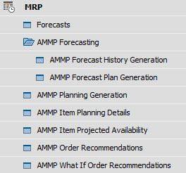 SAP Business One AMMP App Menu Options